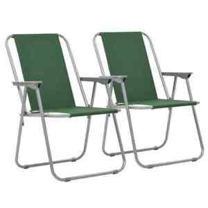 details sur vidaxl 2x chaise pliante de camping vert fauteuil jardin terrasse patio plage