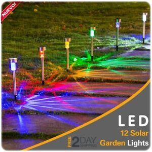 details about 12 pcs luces led solares de patio lamparas solares patios luz solar para jardin