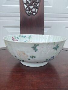 Large Chinese porcelain exportf families rose bowl