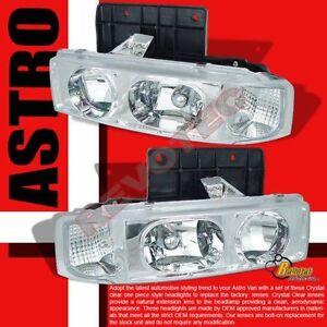 19952005 Chevy Astro Van GMC Safari Chrome Headlights