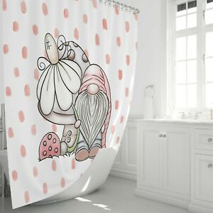 details about adorable gnome shower curtain by folknfunky