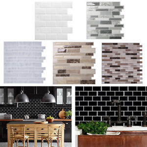 details about 3d marble brick effect kitchen bathroom wallpaper waterproof wall tile stickers