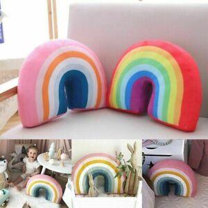 details about uk rainbow shaped pillow soft plush dolls sofa cushion home decoration 2 colors