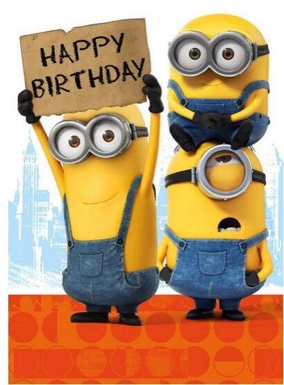 Home Garden Greeting Cards Invitations Minion Happy Birthday Card 2