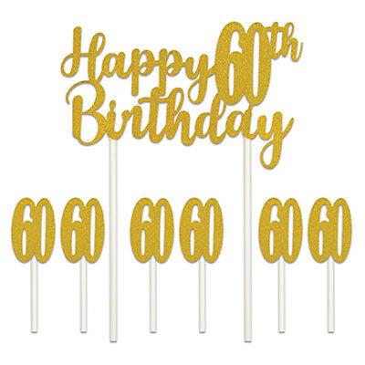 Happy 60th Birthday Cake Topper 34689089797 Ebay