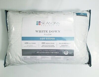 the seasons collection white down pillow side sleeper standard queen 81806467938 ebay
