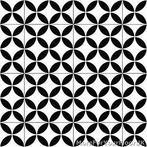 details about black retro victorian tile pattern vinyl flooring kitchen bathroom lino 2m 3m 4m