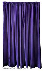 details about 180 inch purple velvet curtain extra long window panel w rod pocket top drapery