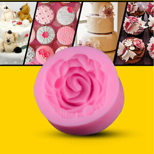 details sur moule gateaux silicone 3d rose fleur pate a sucre d amande fimo patisserie mode