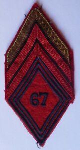 details sur insigne tissu losange modele 1945 67 raa regiment artillerie d afrique original