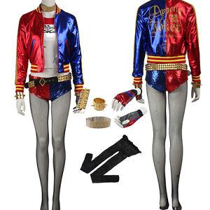 Abrigo Para Mujer Original Harley Quinn Disfraz Cosplay Chaqueta Pantalones de accesorios de Cos