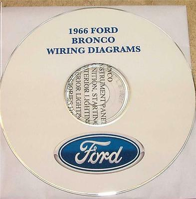 1966 ford bronco wiring diagram manual on cd  ebay