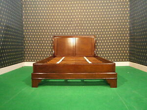 NEW Mahogany 46 Double Size Sleigh Style Bed Bedframe