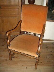 details sur paires de fauteuil style louis xiii os de mouton