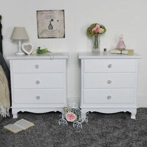 details sur paire de decoration en bois blanc commode vintage francais meubles de chambre afficher le titre d origine
