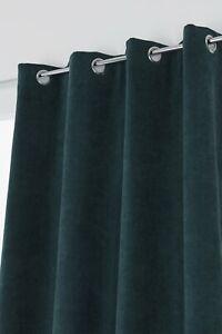 details sur rideau grande hauteur 135 x 280 cm a oeillets uni vert fonce