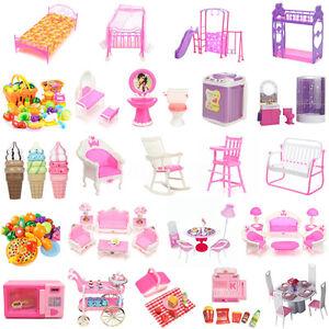 8 Type Maison Poupe Meuble Chaise Chambre Lit Barbie