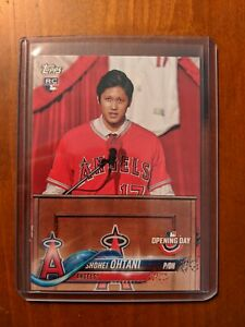 2018 Topps Opening Day Shohei Ohtani Rookie Card #200 SP ...