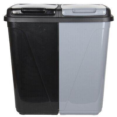 90l double compartiment cuisine poubelle corbeille recyclage et blanchisserie ebay