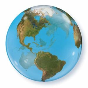 22  BUBBLES See Through Round World Planet Earth Atlas Map Globe     22 034 BUBBLES See Through Round World Planet