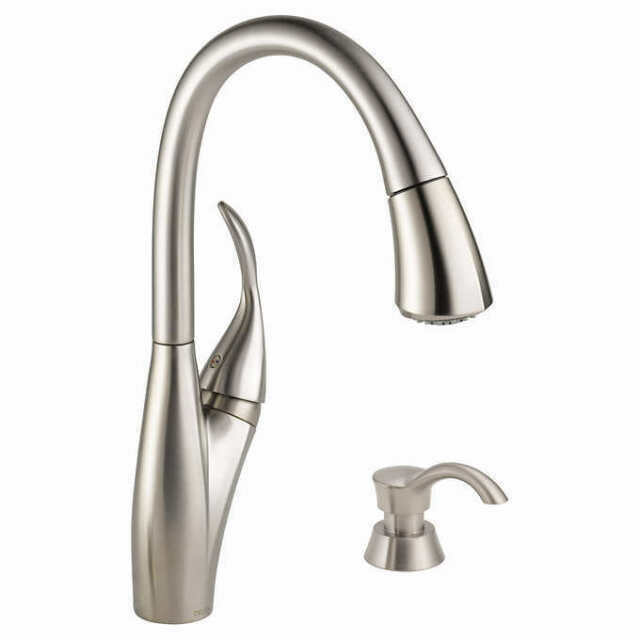 delta 19932z spsd dst berkley single handle pull down kitchen stainless steel faucet