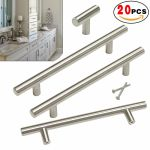 Brushed Nickel Cabinet Pulls Silver Square Knobs Stainless Steel Handles 50pack For Sale Online Ebay