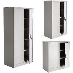 details sur armoire de rangement metallique meuble de bureau armoire fichier 2 portes