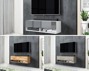 details sur furnix meuble tv style industriel alyx 100 cm avec sans led 3 couleurs a choisir
