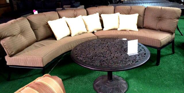 patio sofa 3pc deep seating circular elisabeth outdoor furniture aluminum bronze