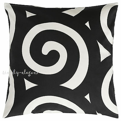 ikea decorative black white tradklover pillow cover cotton cushion cover 20x20 ebay