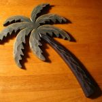 Palm Tree Tropical Beach House Wooden Wall Art Sign Wood Bathroom Home Decor For Sale Online Ebay