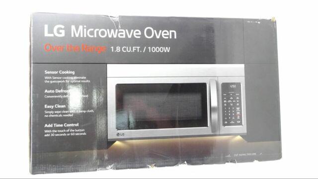 lg stainless steel over the range microwave oven lmv1831st