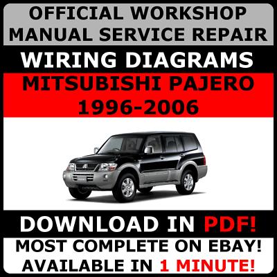official workshop service repair manual mitsubishi pajero 19962006  wiring  ebay