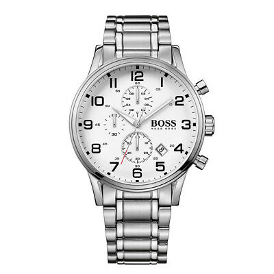 New Fashion Men S Hugo Boss Model Hb1513182 Chronograph White Face Watch 7613272164962 Ebay