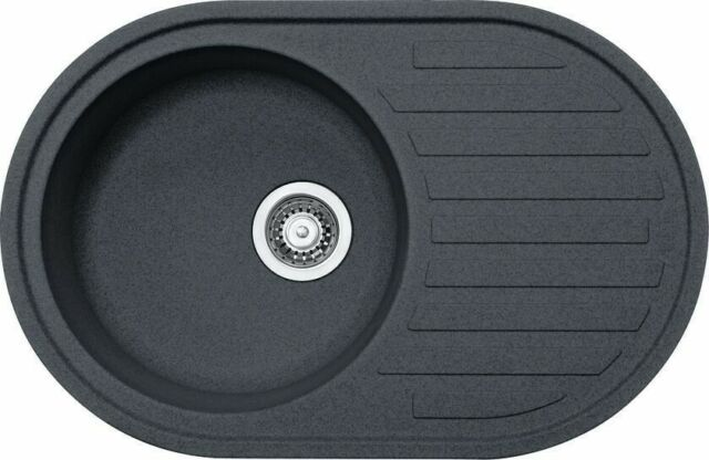 franke pamira black graphite fragranite 1 0 bowl round kitchen sink drainer