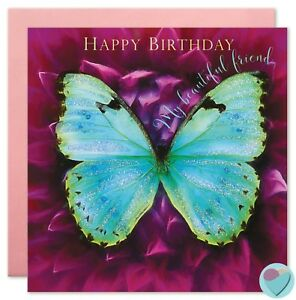 Girls Birthday Cards Friend Sister Niece Nanny Female For Her Butterflies Flower Ebay