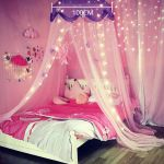 Comfort Princess Bed Canopy Curtain For Girls Gift Pink Star For Sale Online Ebay