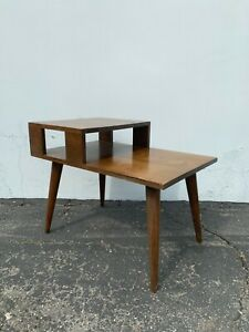details about mid century modern table accent end side table mcm midcentury coffee nightstand