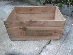 details sur grande caisse en bois ancienne pates alimentaires ferrand renaud 69x41x32cm