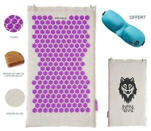 details sur infinisense tapis d acupression tapis fleur en lin matelas en fibre de coco