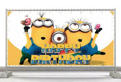 Minions Birthday Custom Happy Birthday Banner Personalized Poster M445 Ebay