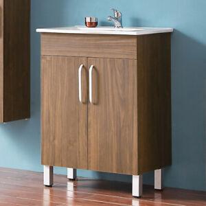 details sur meuble salle de bain meuble sous vasque sur pieds avec vasque integree 60cm