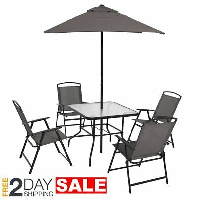 gray patio furniture set with umbrella table and chairs sets clearance under 200 ebay
