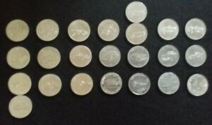 23 Shell tokens,17 from the automobile set,4 from flight,2 duplicates.