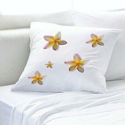 euro pillow cases with frangipani flower design 65 cm square large australian au ebay