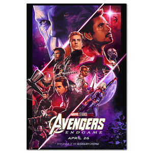 details about avengers endgame movie poster dolby cinema art work high quality prints
