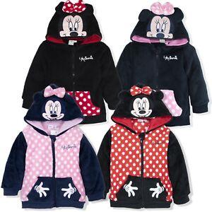 details sur disney minnie mouse bebe fille chaud pull a capuche veste polaire 6 mois 3 ans afficher le titre d origine