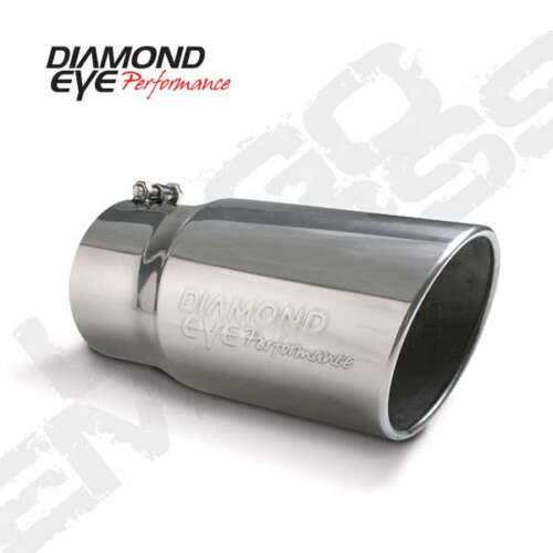 car truck exhaust pipes tips diamond eye exhaust tip 4 inlet 5 outlet steel logo embossed 12 long bolt on auto parts accessories