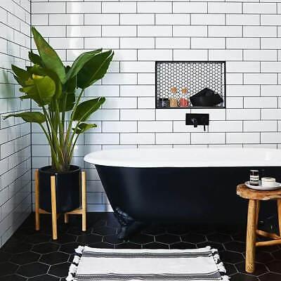 new york xl flat gloss white metro bathroom kitchen wall tiles 10 x 30cm ebay