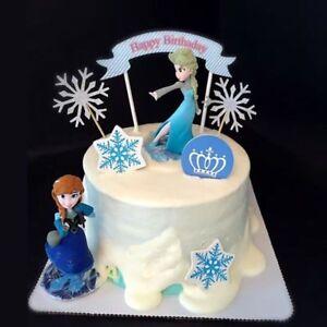 Disney Frozen Anna Elsa Cake Topper Figure Statue Birthday Cake Decor Ebay